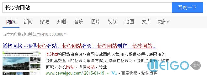 长沙微网站